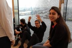 Warten im 13 Stock der Elbphilharmonie