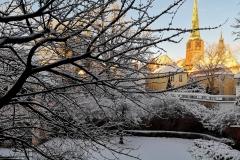 Der seltene Blick Richtung Westen mit der Jacobi-Kirche